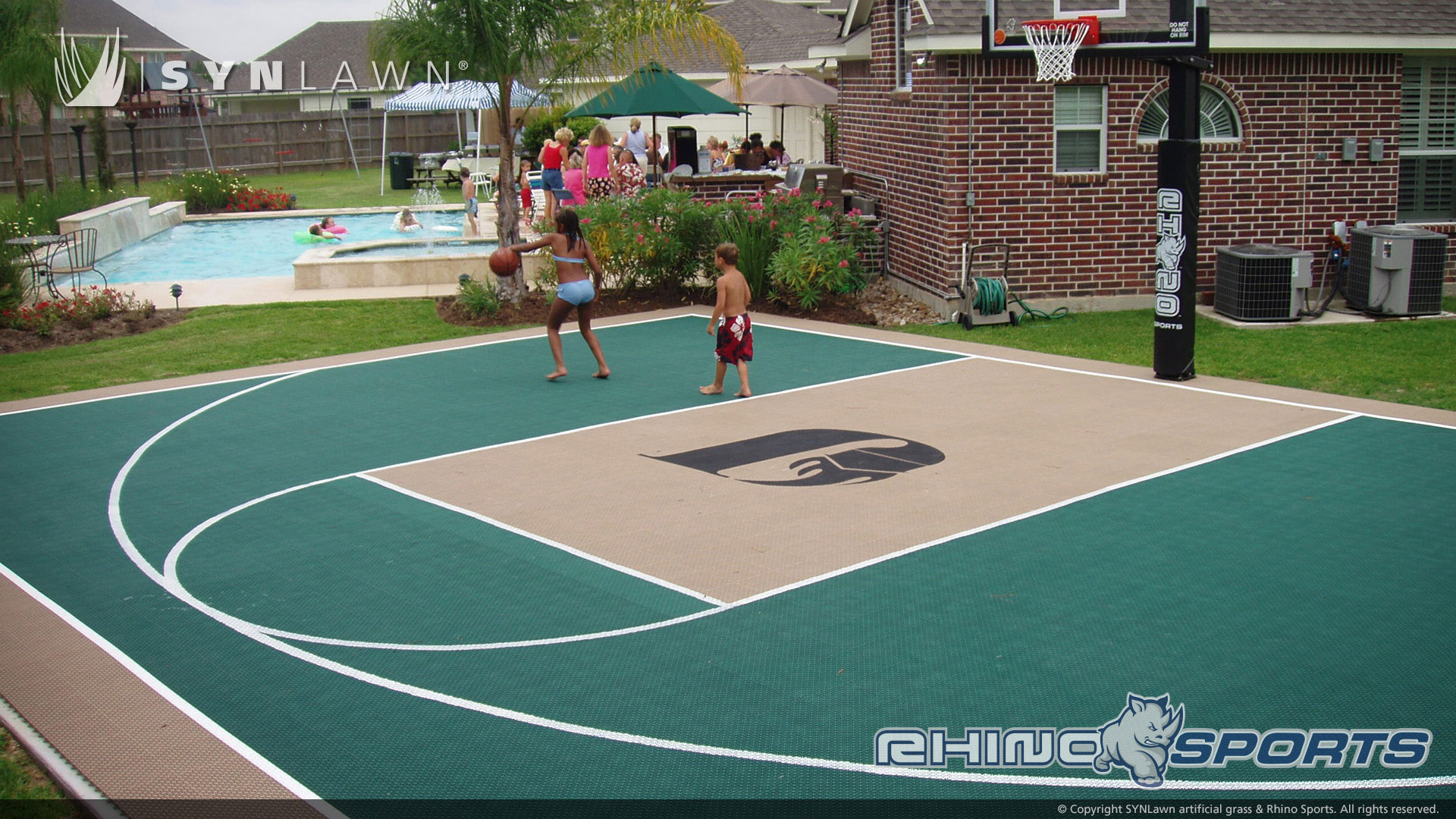 6 reasons to add a backyard court synlawn of canada for Build your own basketball court